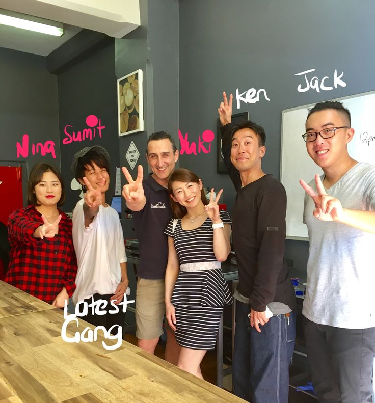 """Last week's Gang. Thank you to Yuki, Jack, Nina, Sumit and Ken for completing the 5 days coffee course. They're part of the GANG now. 😉 """"are you part of the GANG yet?"""" #thecoffeegang #thecoffeeganginkl #thecoffeegangcafe #thecoffeeganginhk #thecoffeeganginfiji #coffee #sydneybarista #barista #baristaworld #coffeecourse #baristatraining #training #school #areyoupartofthegangyet #trubarista"""