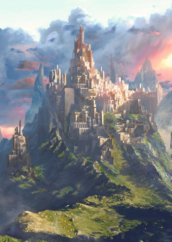 Fantasy Art Watch Castle and Sunset by ATEC Fantasy art landscapes Fantasy castle Fantasy landscape