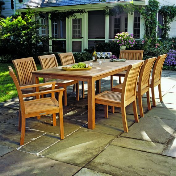 Kingsley Bate: Elegant Outdoor Furniture. Wainscott Dining Table With  Chelsea Dining Chairs Part 43