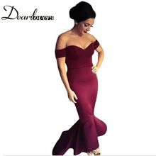 Dear lover Maroon /Navy Off-shoulder Elegant Mermaid Dress Summer Autumn 2016 Women Formal Dresses For Special occassion LC60171  Price: US $35.21  Sale Price: US $18.66  #dressional