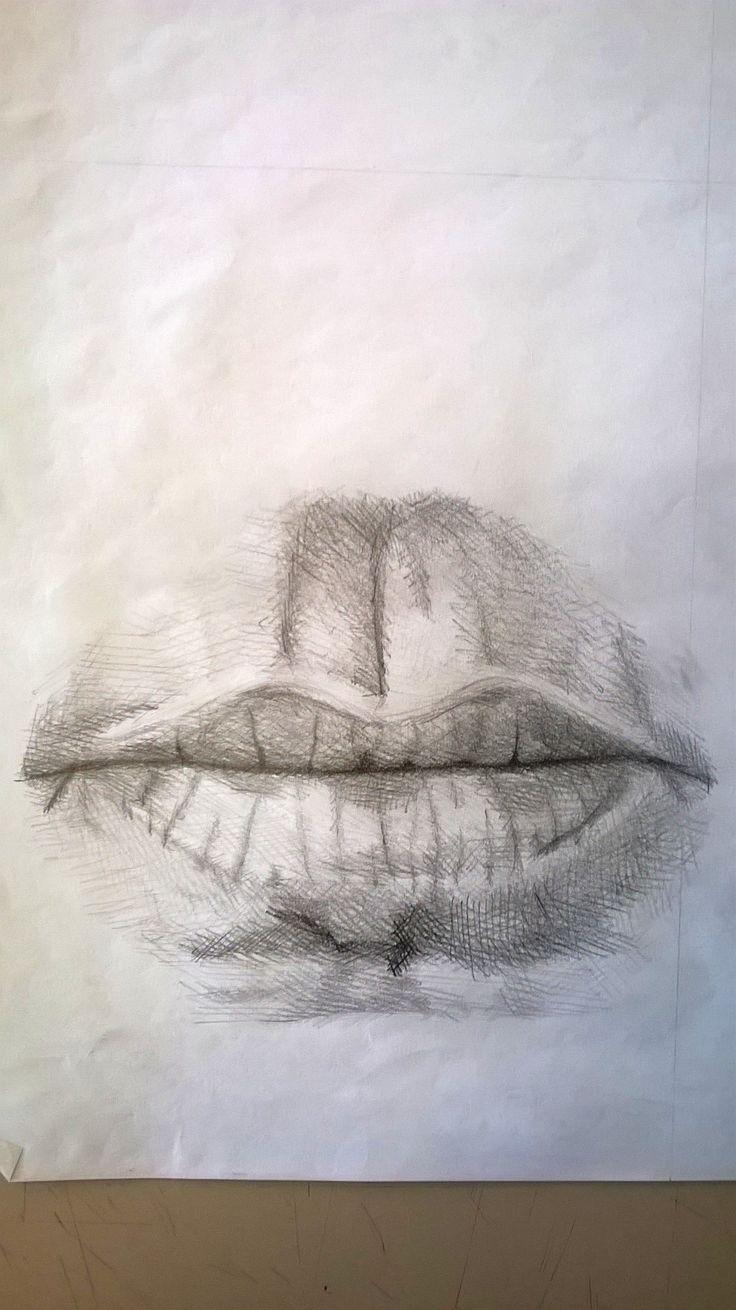 Studio di una bocca, matita - Mouth study, pencil