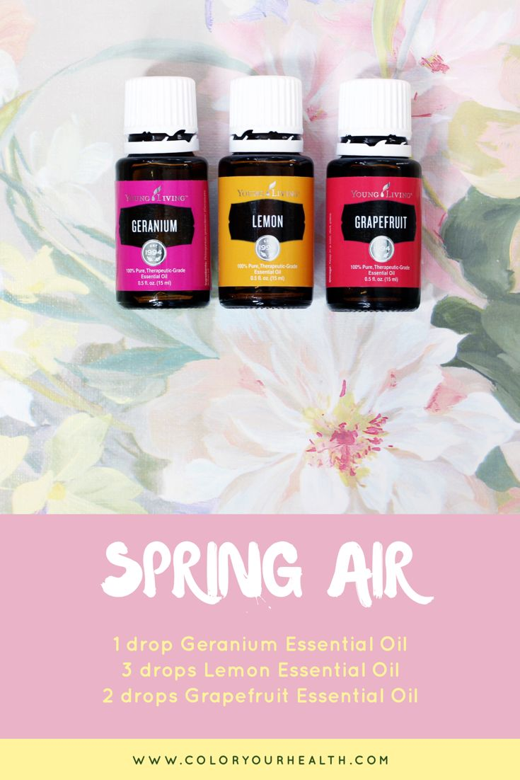 Essential oil diffuser recipe for spring