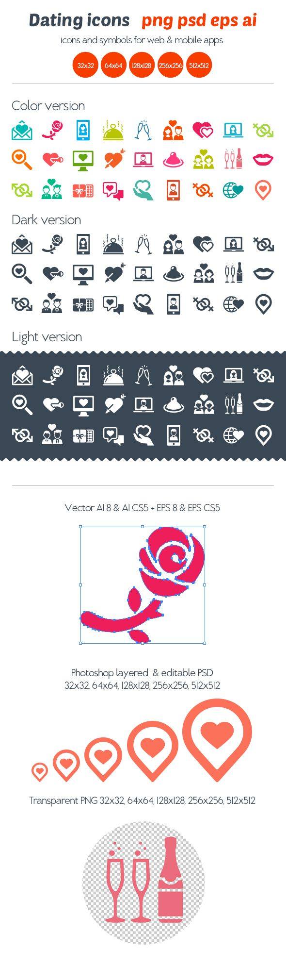 Dating Icons on Behance