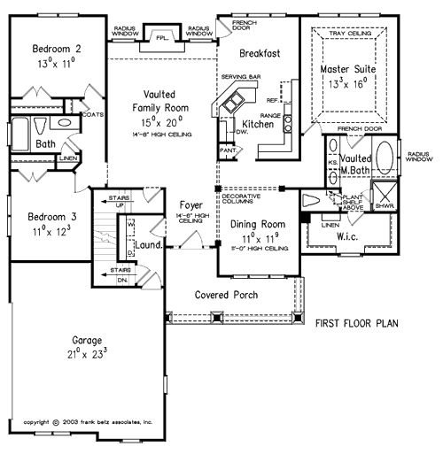 Oxnard home plans and house plans by frank betz for Frank betz floor plans