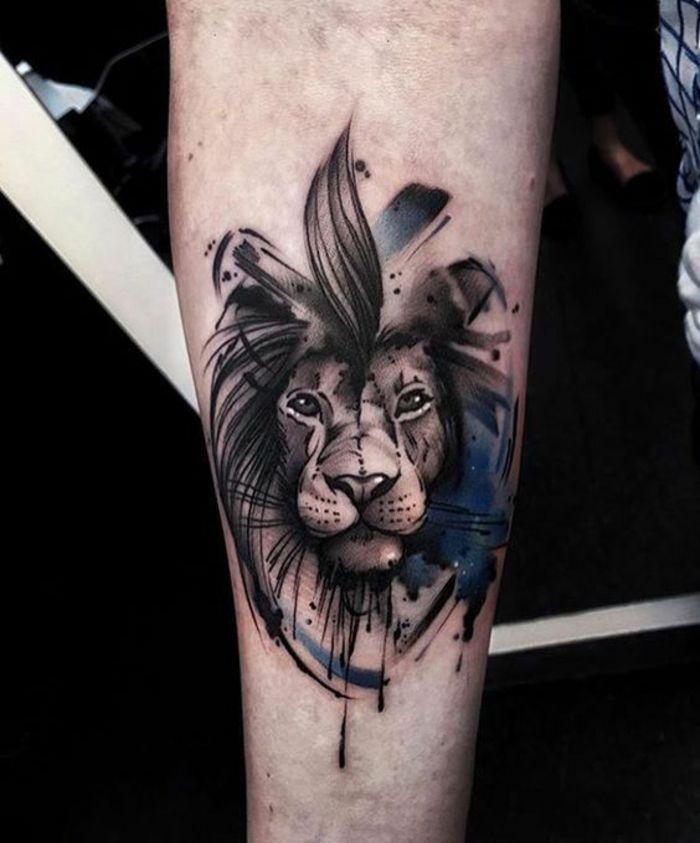 Les 25 meilleures id es de la cat gorie tatouage tete de lion sur pinterest lion tatouages de - Tatouage lion signification ...