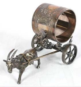 Image detail for -Victorian figural napkin ring SP Meriden Goat Cart   Antique Helper
