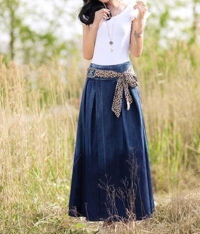 Юбка джинсовая летняя