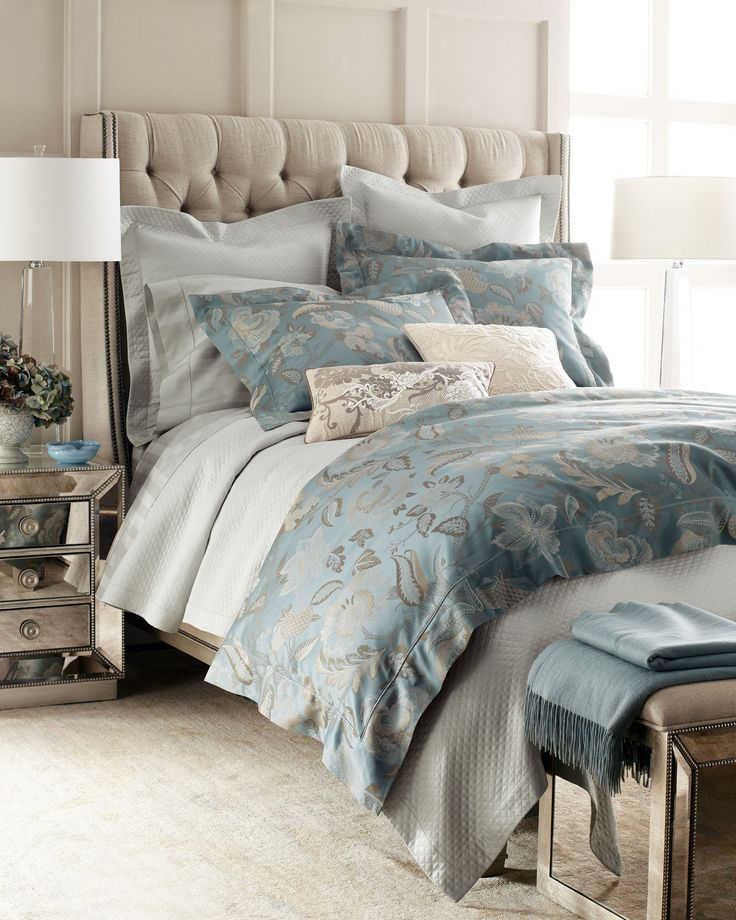 """SFERRA """"Peacock Jacquard"""" Bed Linens - Horchow"""