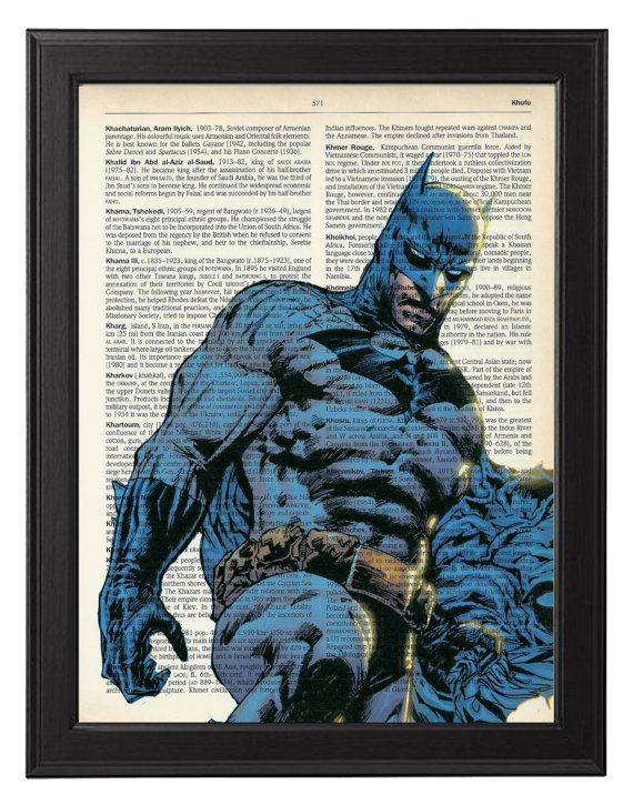Illustration de style bande dessinée Batman  par TopLondonPrints, £6.00