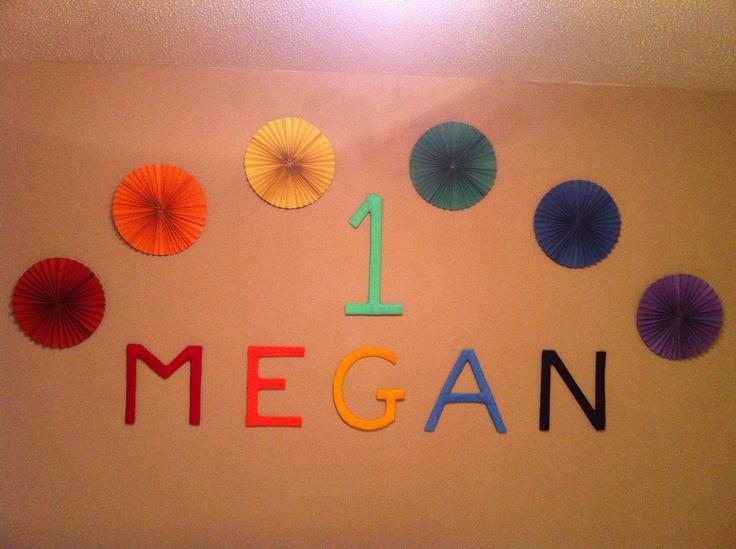 Rainbow rosettes & letters!
