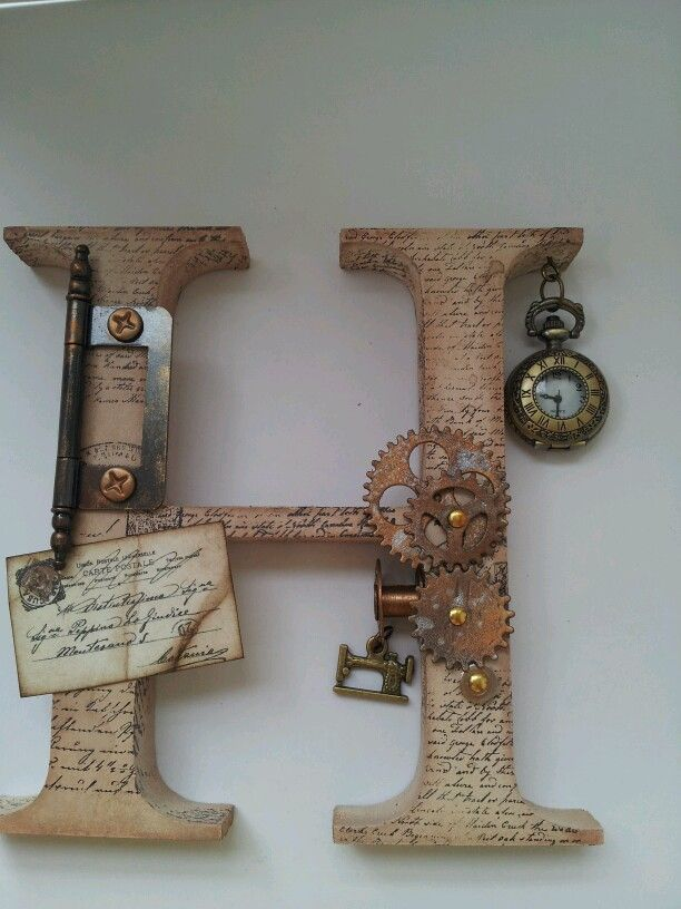 Steam punk letters