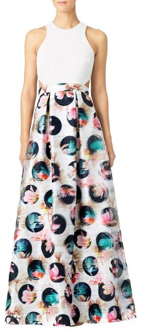 9de161196ccb4 Nicole Miller Muticolor 3d Magnolia Flower Print Ct10009 Long Formal Dress  Size 8 (M). Free shipping and guaranteed authenticity on Nicole Miller  Muticolor ...