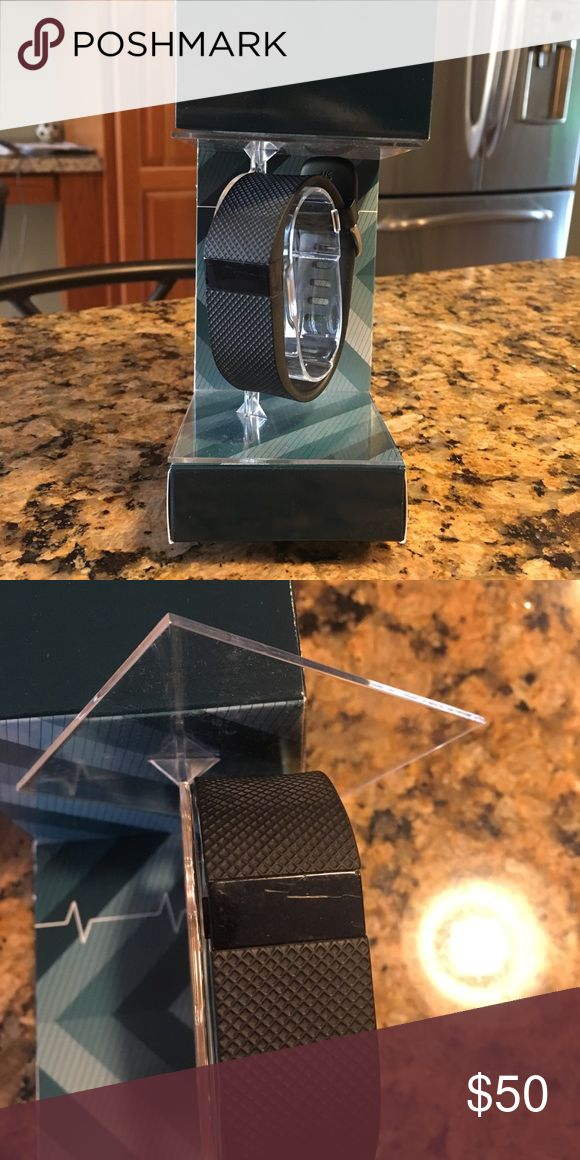 Fitbit Charge HR Fitbit charge HR, good condition, small scratches on screen shown in picture that aren't easily noticed! Monitors heart rate, steps, calories, flights of stairs, etc. includes charger! fitbit Accessories Watches