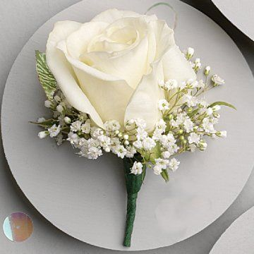 How to Make Corsages and Boutonnieres. I like this boutonniere