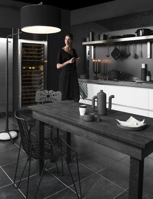 (Matte ) black on black. Interiors photography: Marjon Hoogervorst