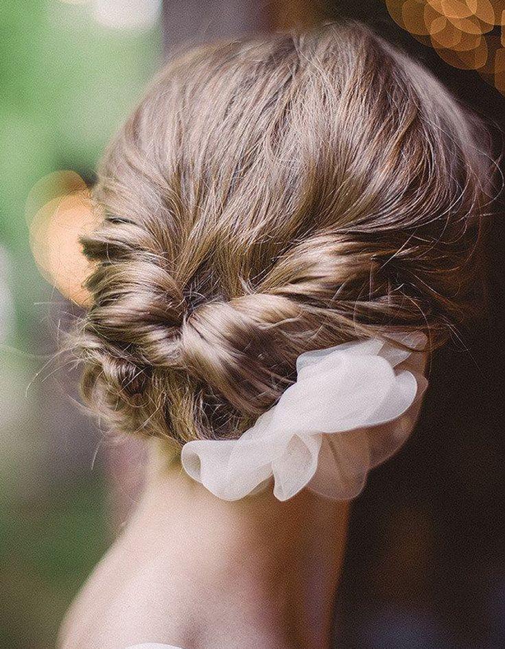 Chignon de mariage sur cheveux courts - Je veux un joli chignon de mariée ! - Elle