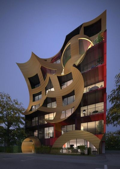 POST MODERNITY - This building has a very strange design and it shows a modern twist on a building