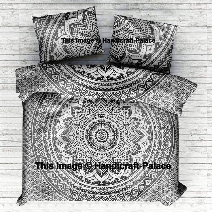 Item - 1 PC Mandala Single Duvet Cover with 1 PC Pillow Covers. Beautiful Indian Screen Printed Cotton Mandala Duvet Cover or Quilt Cover in Twin size with pillow cover. An amazing Sanganer Mandala Design with an elegant center pattern. | eBay!
