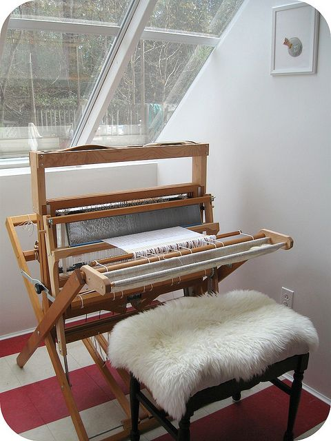 a lovely loom not unlike the ones in the re:loom weave house!
