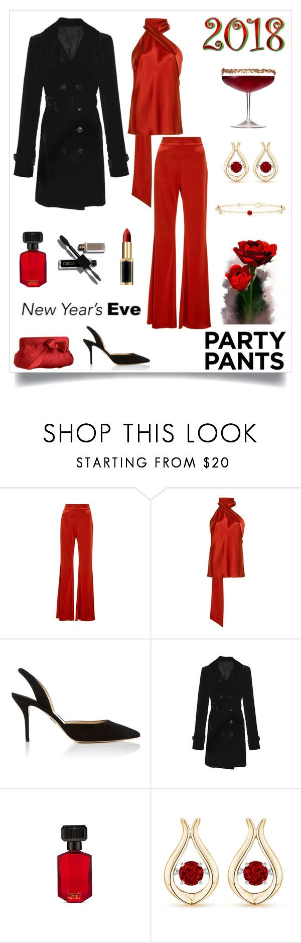 """""""New Years Eve Party Pants"""" by rboowybe ❤ liked on Polyvore featuring Galvan, Paul Andrew, Nili Lotan, J.Reneé, Victoria's Secret and contestentry"""