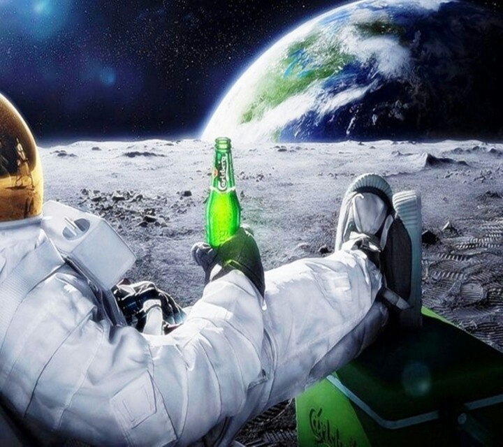 astronaut drinking miller lite beer - photo #6