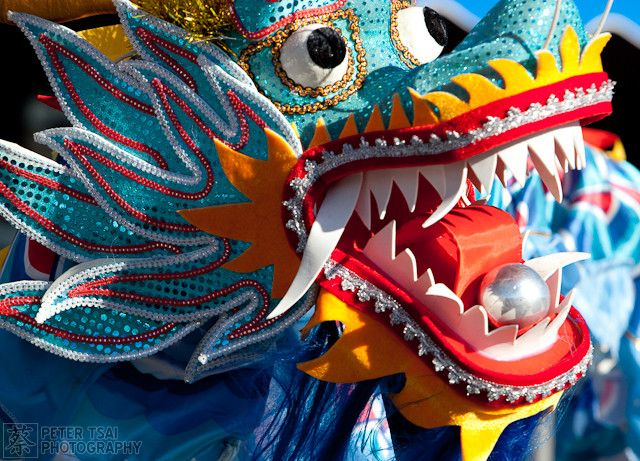 chinese new year lion dragon dance 11 Lion and Dragon Dancing for Chinese New Year Stock Photos