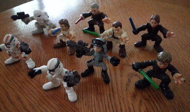 Hasbro 01 04 06 07 Star Wars Galactic Heroes Lot 9 Action Figures Snow Troopers  #StarWars