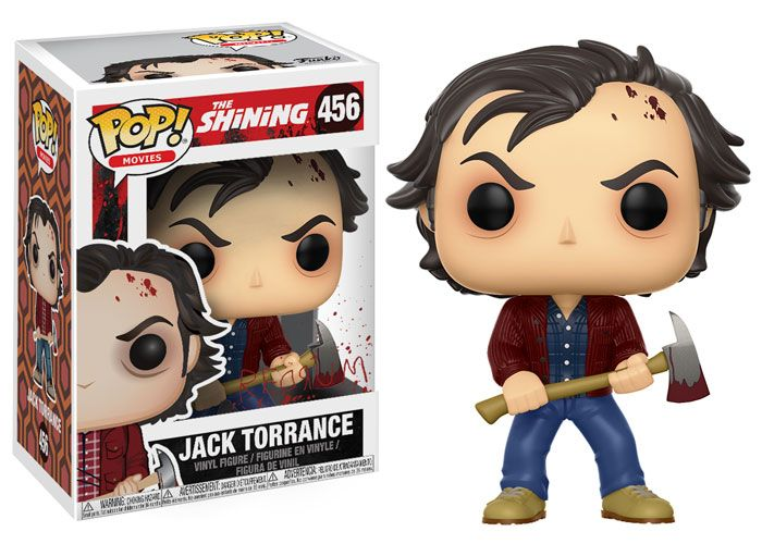 Pop! Movies: Stanley Kubrick's The Shining  Come out, come out, wherever you are!From Stanley Kubrick's classic psychological thriller,The Shining comes the Torrance family!They live in the creepy, mountain-isolated Overlook Hotel,but we won't hold that against them,as they are now receiving the Pop! vinyl treatment!Here comes Jack - featured with his signature axe.Wendy and Danny Torrance are shown with knives of their own.Also look for the chilling chase piece of Jack!From the famo...