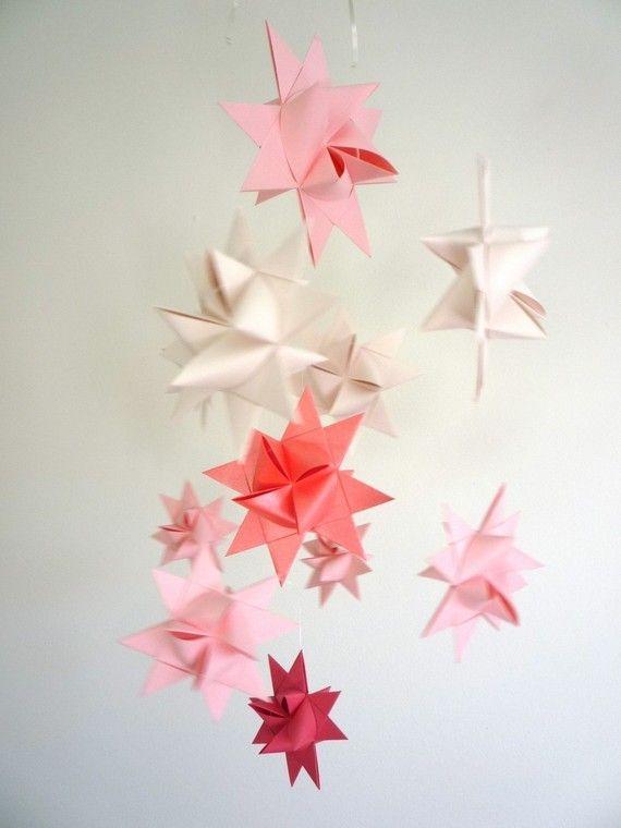Baby Nursery wieg mobiele Origami sterren zachte door theStarcraft