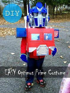 buckley journal: EASY DIY Optimus Prime Costume (Rescue Bots)