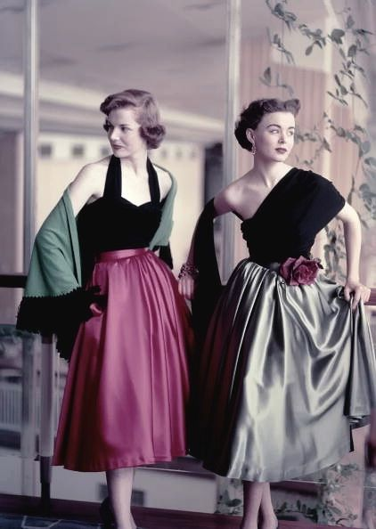 I am in love with the 50's and would love a modern take on something like the one shouldered number here.