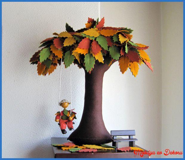 awesome Çınar Yaprakları ile Dekoratif Örnekleri