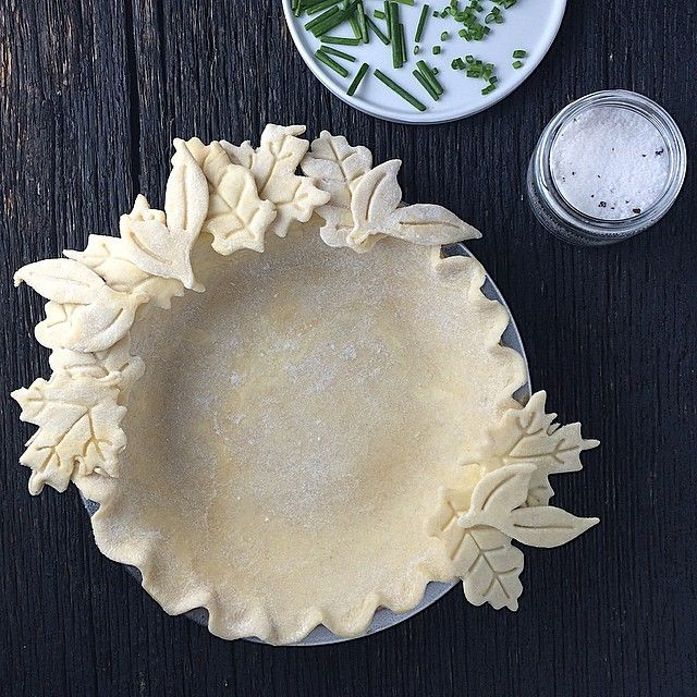 thejudylab's photo on Instagram - crust for truffled egg custard pie/ souffle