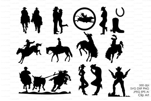 Cowboy western silhouettes clip art creative clip art for Cowboy silhouette tattoo
