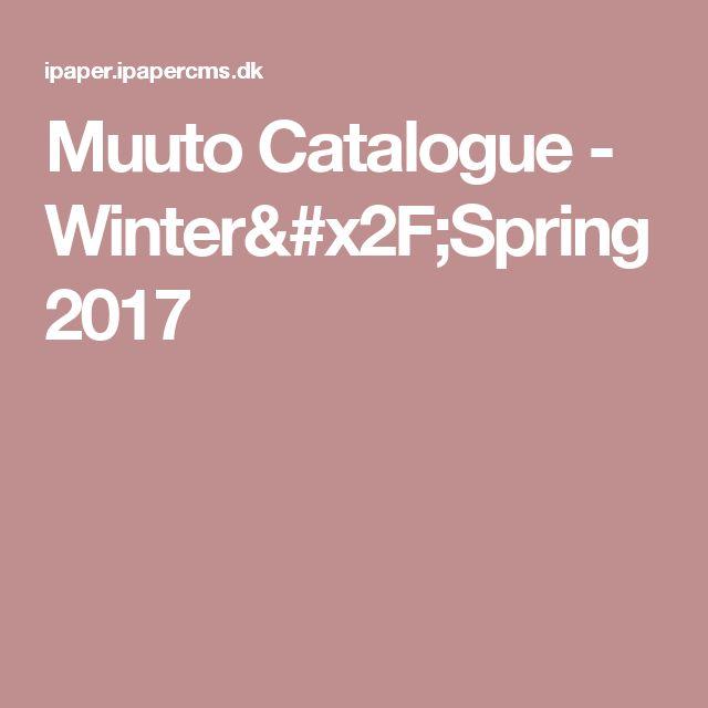 Muuto Catalogue - Winter/Spring 2017