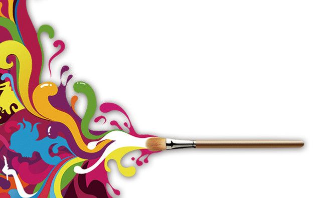 Painting School Business Card Background Material With Images