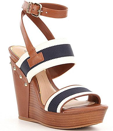 Gianni Bini Brana Nautical Wedges #Dillards OMG I want them
