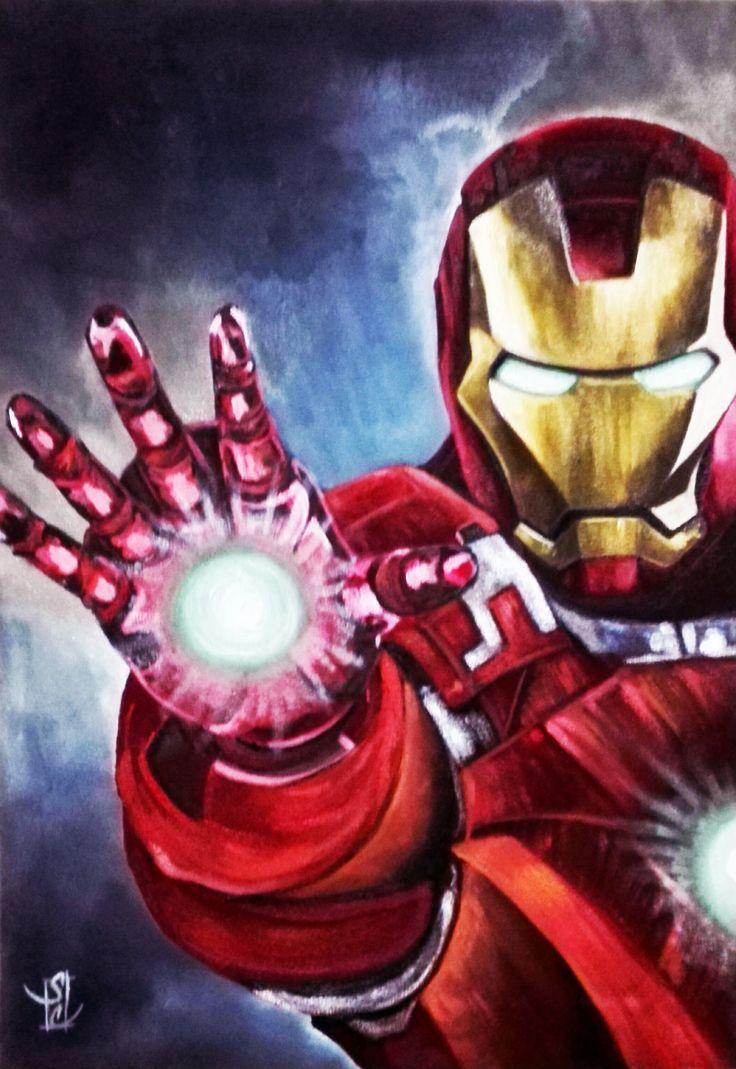 Acrylics Iron Man