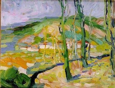 Egry József Tájkép című festménye