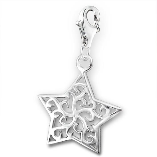 Sterling Silver Star Clip on Charm