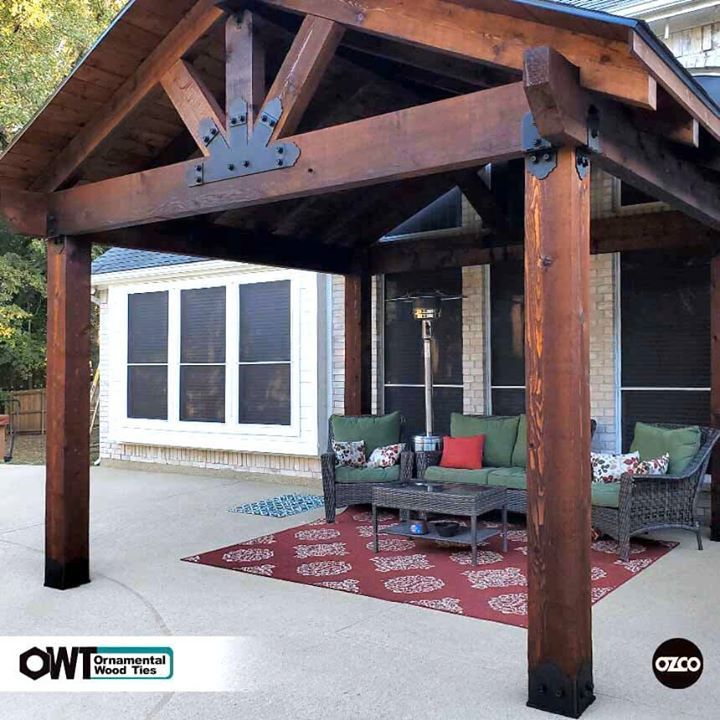 A Backyard Pavilion With A Fireplace Serves As A Multi Purpose Outdoor Living Space In 2020 Backyard Pavilion Backyard Patio Designs Covered Patio Design