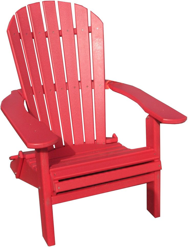 Folding Adirondack Chair, Chair Bench, Red Chairs, Rocking Chair, Outdoor  Ideas, Lawn Furniture, Northwood, Style Ideas, Terrace