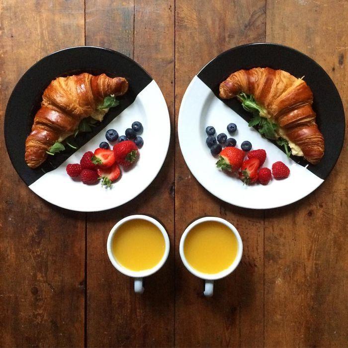 Amor e simetria para o café da manhã