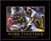 Work together Iowa Hawkeyes