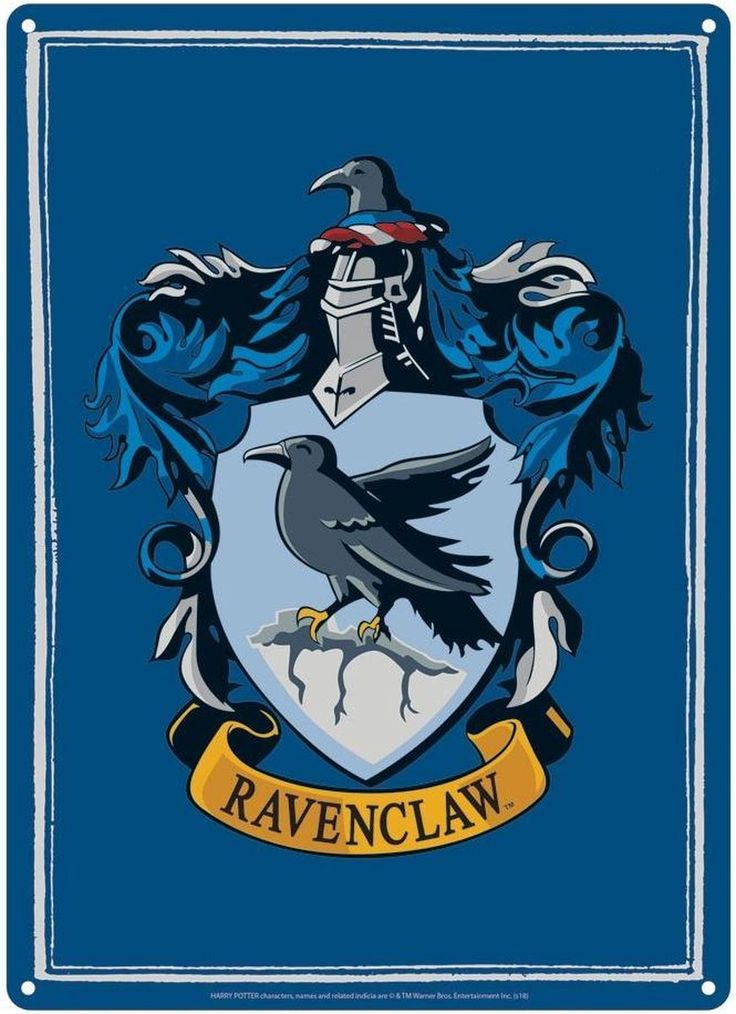Harry Potter Ravenclaw Crest Tin Sign Poster in 2020