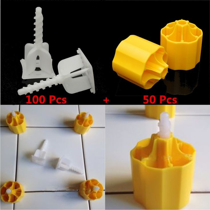 Compare Prices Floor Tile Leveling System 50 Caps 100 Cross Spacers Plastic Flooring Tool #Floor #Leveling