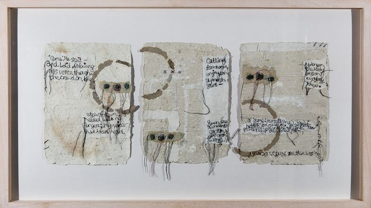 'Come' He Said Triptych Mixed Media on Paper Tess Ainley