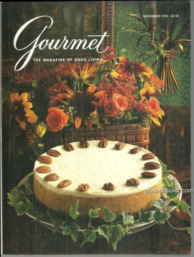 Gourmet Magazine November 1990 Pumpkin Cheesecake Cover