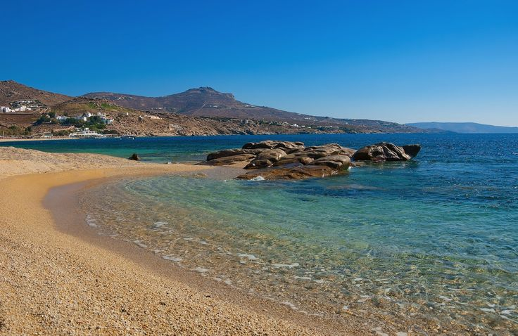 Kalafatis beach on Mykonos island