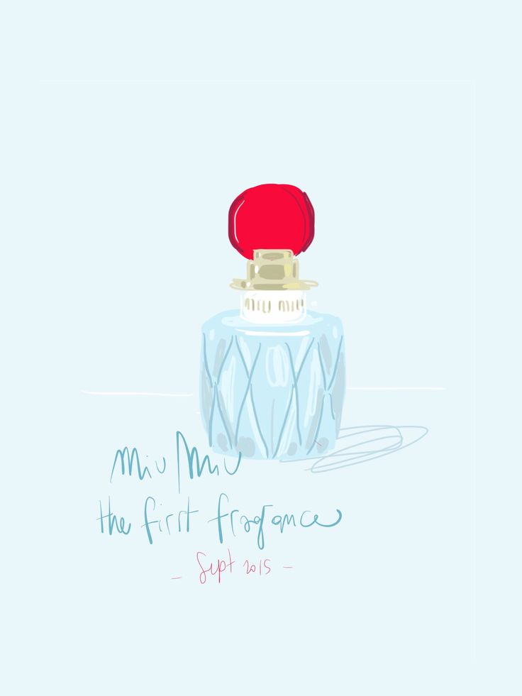 The first fragrance of Miu Miu <3 // Beauty Illustration by Open Toe www.opentoeillustration.com